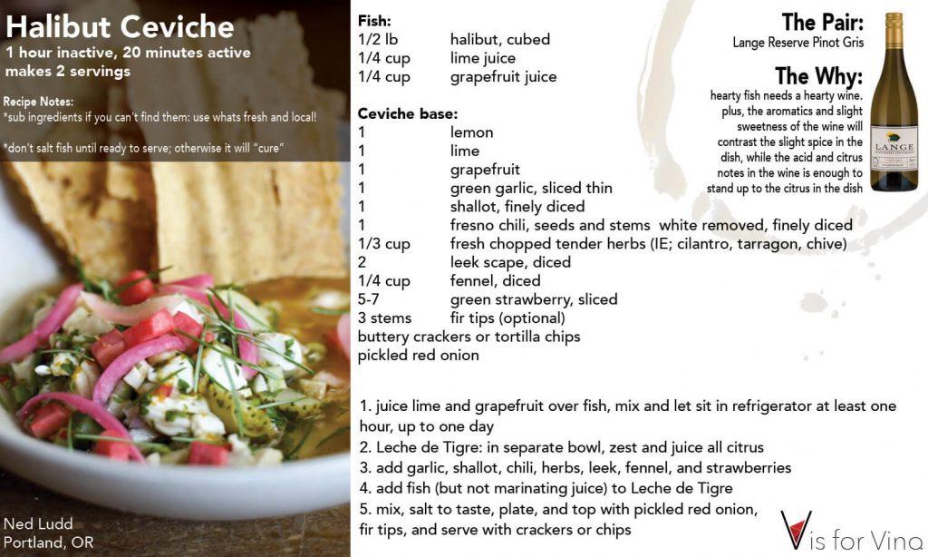 recipe card haibut ceviche