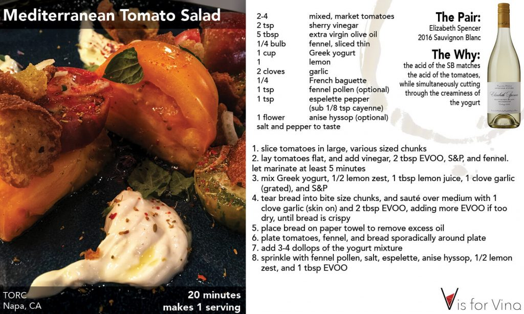 recipe card mediterranean tomato salad