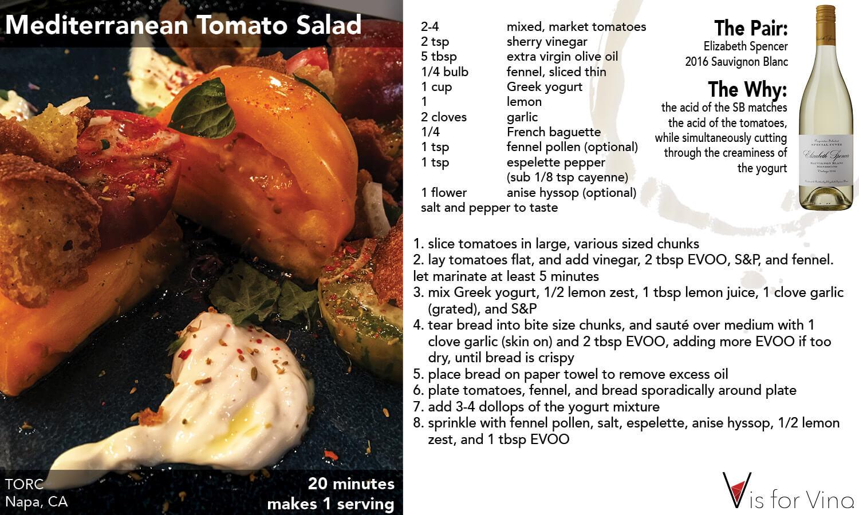 Napa Mediterranean Tomato Salad