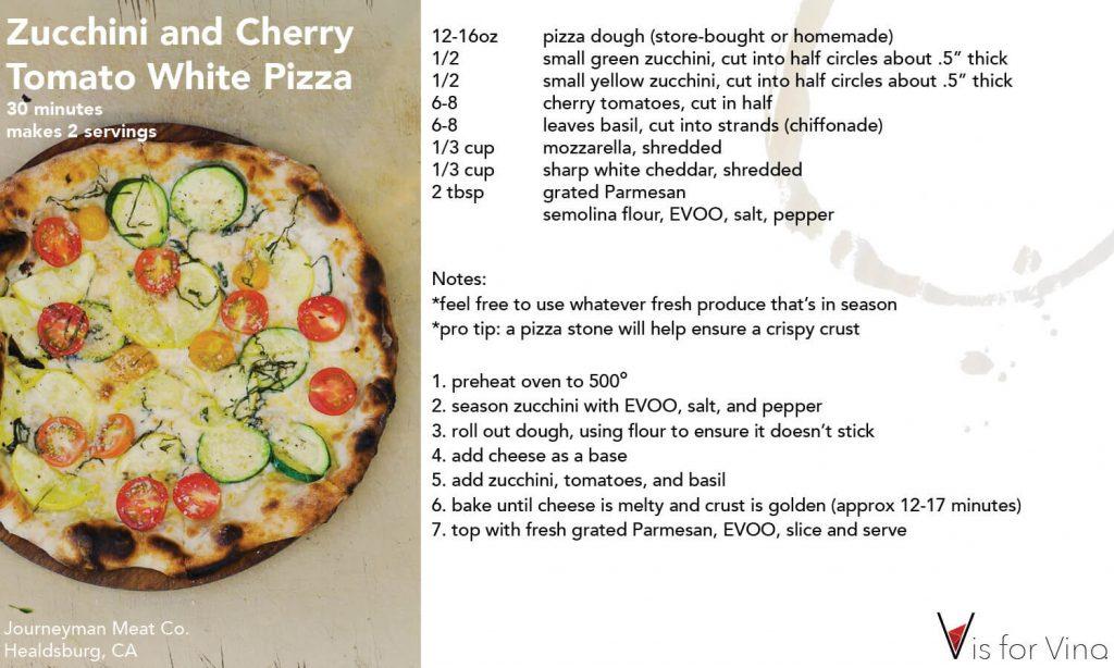 recipe card white pizza