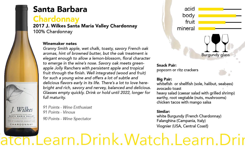 Santa Barbara J Wilkes Chardonnay