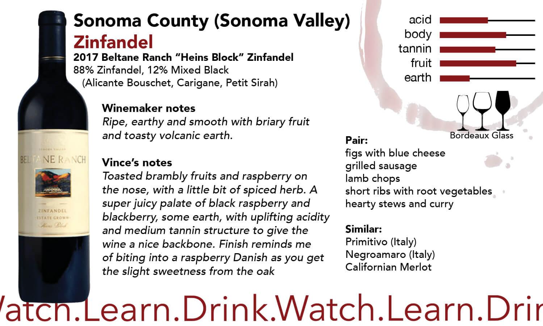 Sonoma County Beltane Zinfandel